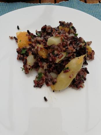 Reissalat mit grünen Spargel - Rezept - Bild Nr. 3