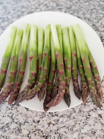 Reissalat mit grünen Spargel - Rezept - Bild Nr. 5