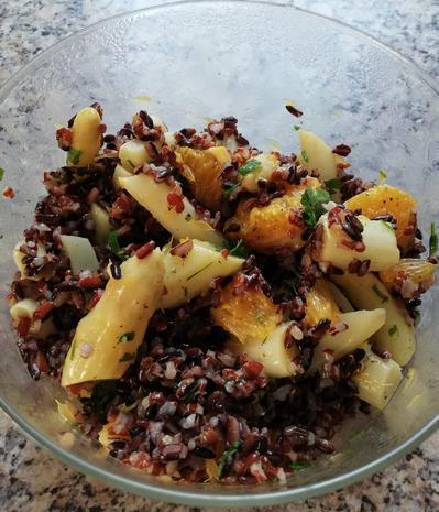 Reissalat mit grünen Spargel - Rezept - Bild Nr. 10455