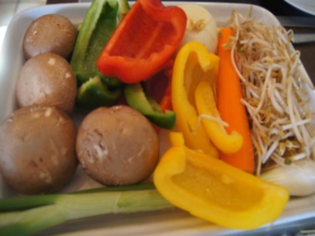 Rindfleischstreifen mit Gemüsemix und Mie-Nudeln - Rezept - Bild Nr. 8