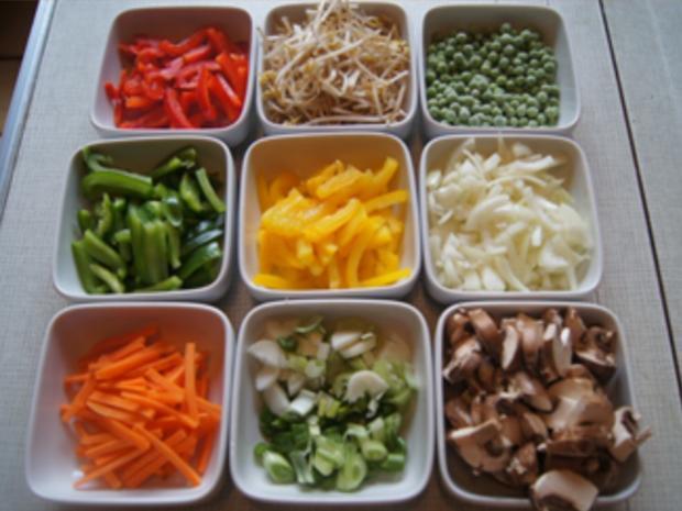 Rindfleischstreifen mit Gemüsemix und Mie-Nudeln - Rezept - Bild Nr. 9