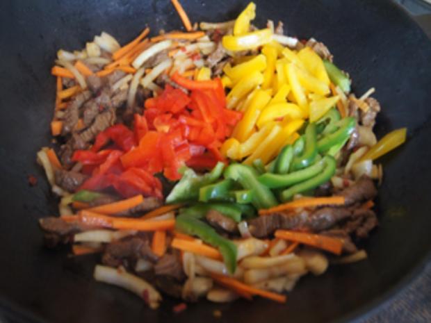 Rindfleischstreifen mit Gemüsemix und Mie-Nudeln - Rezept - Bild Nr. 17