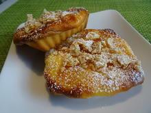 Aprikosen-Schmand-Törtchen mit Mandelkrokant-Topping - Rezept - Bild Nr. 2