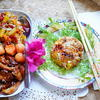 Hühnerbrust mit Ananas, Papaya und gebratenem Reis - Rezept - Bild Nr. 2