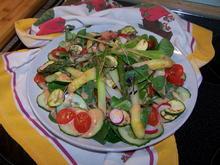 Ein bunter Salat , mit zweierlei Spargel - Rezept - Bild Nr. 2