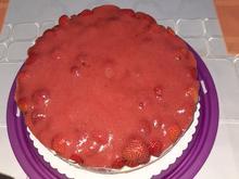 Erdbeer-Quark-Sahne Torte für 26cm Tortenring - Rezept - Bild Nr. 2