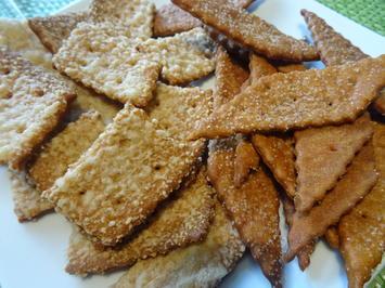 Knabber-Gebäck mit und ohne Käse - Rezept - Bild Nr. 2