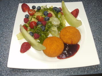 Salat mit gebackenem Camenbert - Rezept - Bild Nr. 2