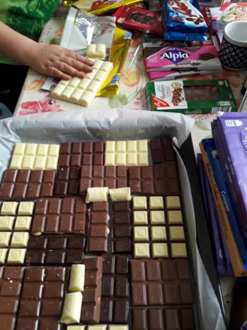 Bunte Schokoladenstücke - Rezept - Bild Nr. 3
