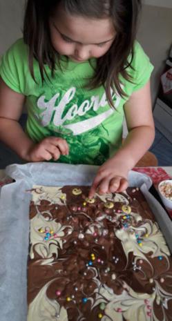 Bunte Schokoladenstücke - Rezept - Bild Nr. 4