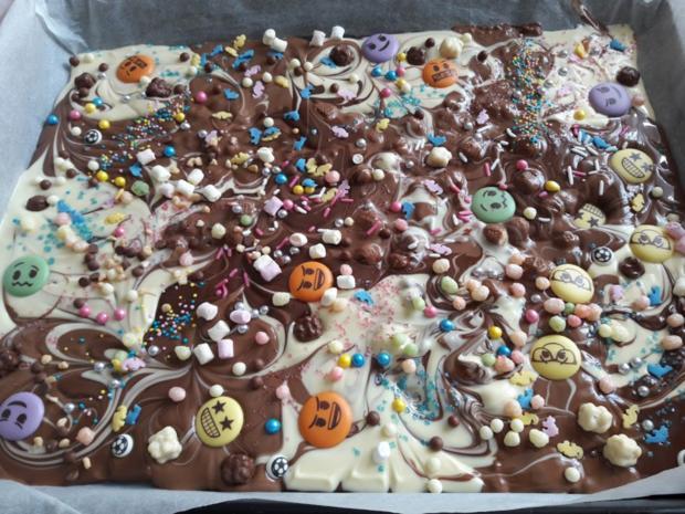 Bunte Schokoladenstücke - Rezept - Bild Nr. 6