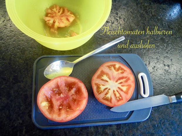 Gefüllte Tomate mit Käse überbacken - Rezept - Bild Nr. 10475