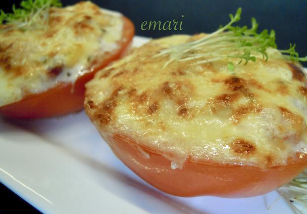 Gefüllte Tomate mit Käse überbacken - Rezept - Bild Nr. 10482