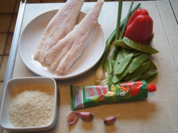 Seelachsfilet in Tomatensauce mit Basmatireis - Rezept - Bild Nr. 3