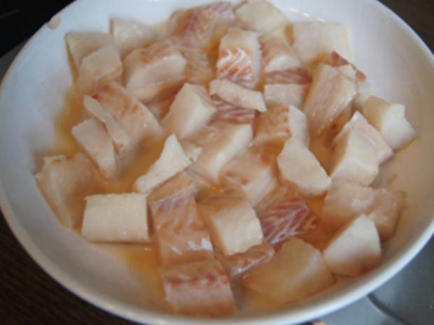 Seelachsfilet in Tomatensauce mit Basmatireis - Rezept - Bild Nr. 5