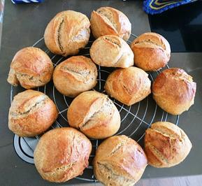 Dinkel-Buttermilch Brötchen no knead - Rezept - Bild Nr. 10