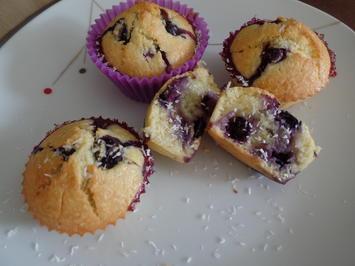 Blaubeer-Kokos-Muffins - Rezept - Bild Nr. 10563