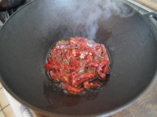 Gebratenes Rindfleisch mit Austernsauce und Mie-Nudeln - Rezept - Bild Nr. 10