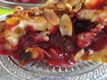 Kirsch  Kuchen mit Mürbteig, Marzipan und Knusperdecke - Rezept - Bild Nr. 2