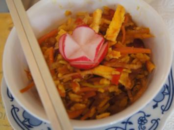 Gebratener Reis mit Gemüsemix und Ei - Rezept - Bild Nr. 2