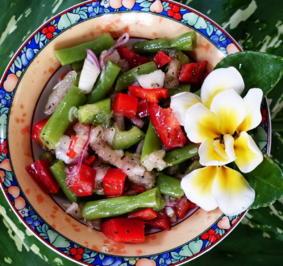 Pikanter, grüner Bohnensalat mit Birnen und Paprika - Rezept - Bild Nr. 2