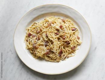 Einfache Carbonara - Mit Speck, Eiern und Parmesan - Rezept - Bild Nr. 3