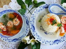 Garnelensuppe mit Gemüse, Rettich und Reis - Rezept - Bild Nr. 2