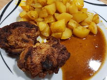 Hähnchenschenkel mit Backkartoffeln - Rezept - Bild Nr. 10664
