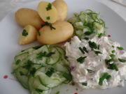 Kartoffeln mit Quark und Gurkensalat - Rezept - Bild Nr. 10649