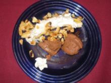 Schokoladenquark mit Bananen und Honigmandeln - Rezept