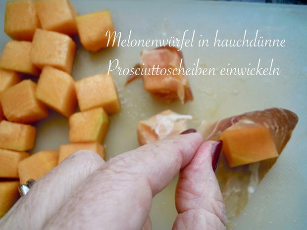 Fingerfood - Melone mit Schinken - Rezept - Bild Nr. 6
