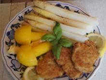 Spargel mit Schweinefilet-Medaillons und Kartoffelpilzen - Rezept - Bild Nr. 2