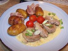 Schweinelendchen+Speckkartoffeln +Zwiebelsoße - Rezept - Bild Nr. 2