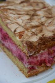 Rezept: Himbeer-Baiser-Torte