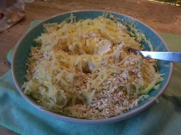 Kartoffelpuffer mit geräucherter Lachs mit Dip - Rezept - Bild Nr. 6