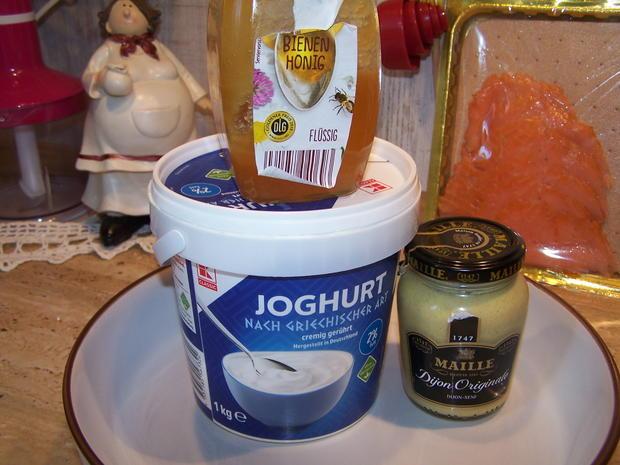 Kartoffelpuffer mit geräucherter Lachs mit Dip - Rezept - Bild Nr. 8