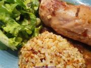 Geflügel - Sosse - Blumenkohlreis - Salat - Rezept - Bild Nr. 2
