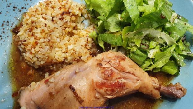Geflügel - Sosse - Blumenkohlreis - Salat - Rezept - Bild Nr. 10721