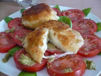 Gebackener Mozzarella mit Pesto - Tomaten - Rezept - Bild Nr. 2