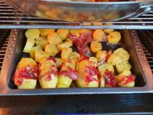 """Fächerkartoffel  mit Serranoschinken """"Pata Nègra""""  und Rauchsalz - Rezept - Bild Nr. 6"""