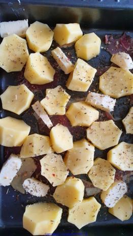 """Fächerkartoffel  mit Serranoschinken """"Pata Nègra""""  und Rauchsalz - Rezept - Bild Nr. 5"""