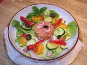 Lachs-Tatar mit Beilagen Salat - Rezept - Bild Nr. 10748