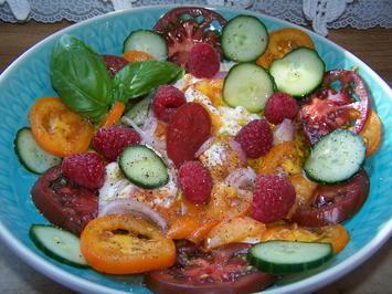 Schneller Salat mit Burrata mit buten Salaten - Rezept - Bild Nr. 2