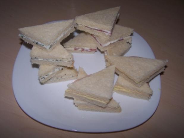 Mini-Sandwiches - Rezept