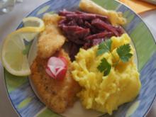 Seelachsfilet mit Rote-Bete-Salat und Kartoffelstampf - Rezept - Bild Nr. 10799