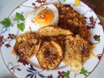 Knusprige Auberginen mit Nasi goreng - Rezept - Bild Nr. 2