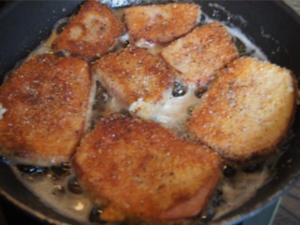 Gebratener Leberkäse mit Erbsen-Möhren-Gemüse und Kartoffeln - Rezept - Bild Nr. 6