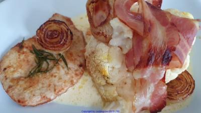 Blumenkohl - mit Speckhaube - Fleisch = Wir bauen ein Rezept (Rezept Nr. 11) - Rezept - Bild Nr. 2