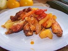 Chicken Wings  frisch  Pfanne mit Kartoffeln u. mehr - Rezept - Bild Nr. 2