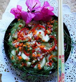 Koreanischer, scharfer Gurkensalat – Oinamul - Rezept - Bild Nr. 2